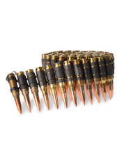 .308 Brass with black links bullet belt
