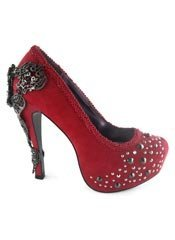 AMINA Red Crystal Stilettos