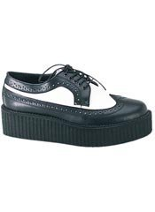 CREEPER-408 Black White Creepers