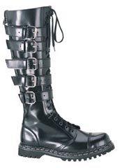 GRAVEL-20 - Black Combat Boots
