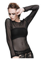 Levana Mesh Net Long Sleeve Shirt