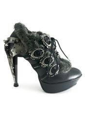 MORGANA Black Steampunk Stilettos