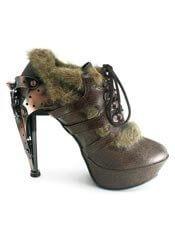 MORGANA Brown Steampunk Stilettos