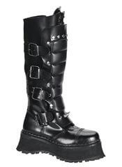 RAVAGE-II Black Zipper Boots