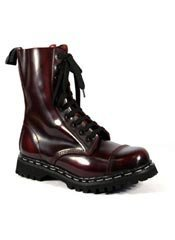 ROCKY-10 Burgundy Leather Boots