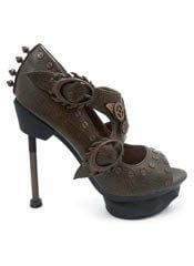 SKYCAPTAIN Brown Stilettos