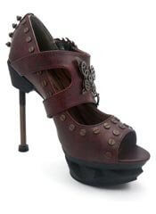 SKYCAPTAIN Burgundy Stilettos