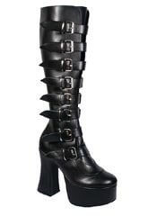 SLUSH-249 Black Platform Boots