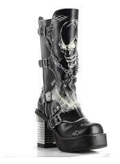 SPAWN Black Skull Boots
