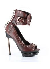 STEAMMACHINE Burgundy Stilettos Heels