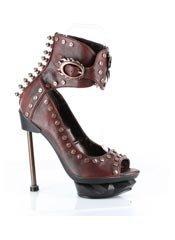 STEAMMACHINE Burgundy Stilettos Heels