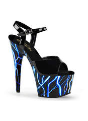 ADORE-709NLB Cyber Goth Lightning Blue High Heels