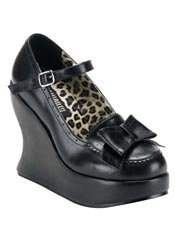 BRAVO-09 Black Bow Shoes - Clearance