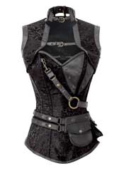 Brocade Captainette Steampunk Corset