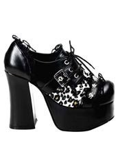 CHARADE-34 Leopard Platform Shoes