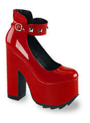 CRAMPS-03 Red Patent Platforms