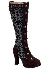 CRYPTO-301 Brown Victorian Boots