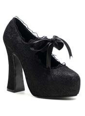 DEMON-11 Black Lace Pumps