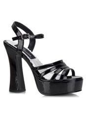 DOLLY-25 Black Patent Sandal