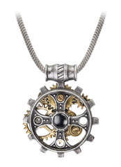 Foundrymans Ring Cross Pendant