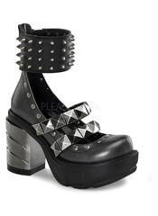SINISTER-62 Chromed Spike Boots