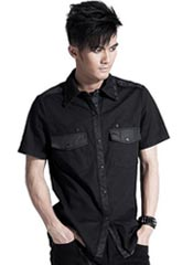 Men's Black Studded Shirt