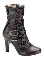 TESLA-106 Brown Steampunk Boots