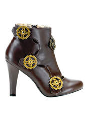 TESLA-12 Brown Steampunk Boots