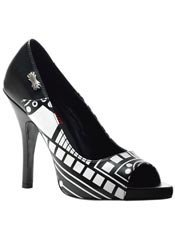 ZOMBIE-06UV Black High Heels