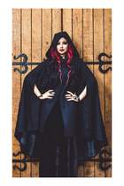 Morrigan Wool Cape