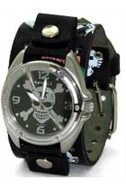 Cross Bones Skull (Black) Watch