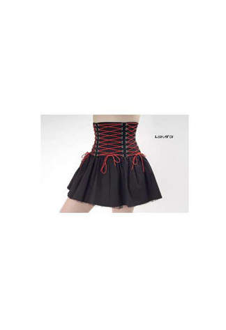 Attitude Punk Corset Skirt Canvas