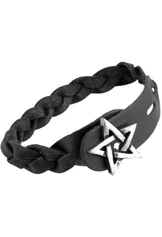 Pentagram Gaelic Leather Bracelet