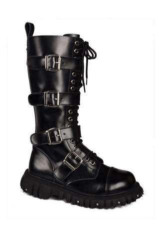 T.U.K. A6072 - 4 Buckle Boots