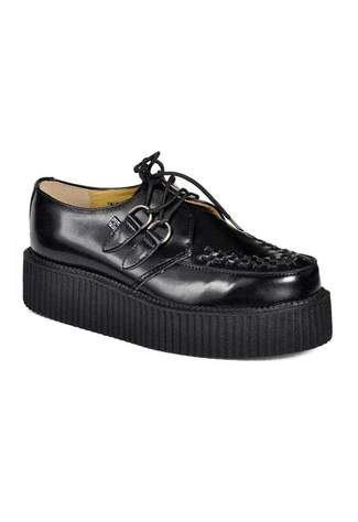 T.U.K. A6802 - Black Leather Creepers