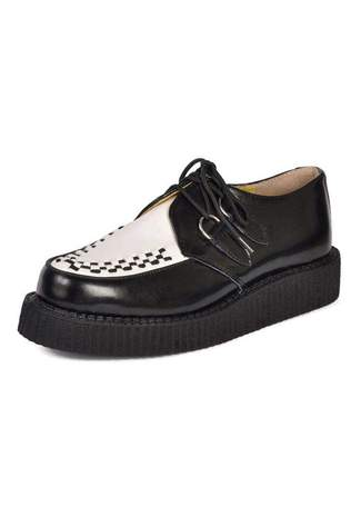 T.U.K. A6807 - White Black Creepers