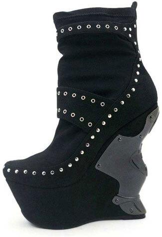 BLADE Black Suede Boots
