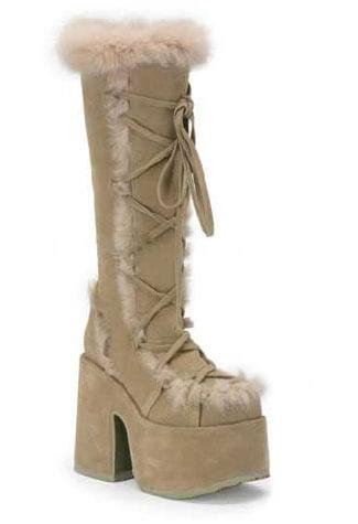 CAMEL-311 Buckskin Suede Boots