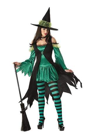 Emerald Witch Costume - Clearance