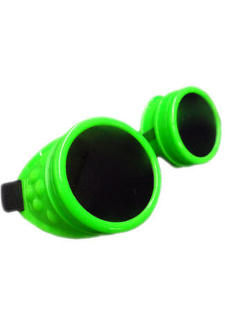 Plain Fluorescent Green Goggles