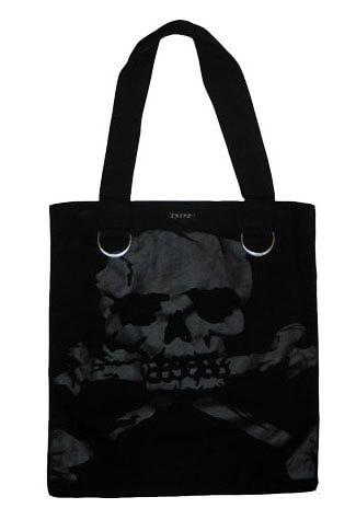 Black Skull Shoulder Bag Denim