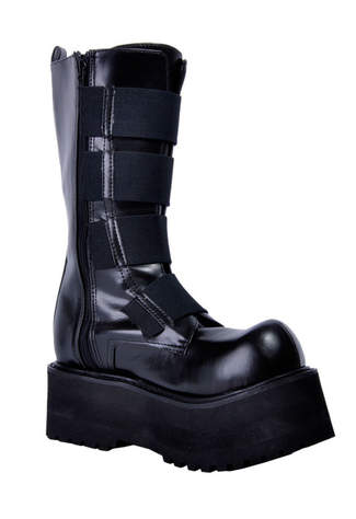 COMBAT-208 Stretch Zipper Boots