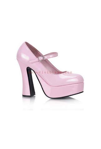 DOLLY-50 Pink Platform Heels
