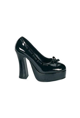 DOLLY-47 Black Patent Heels