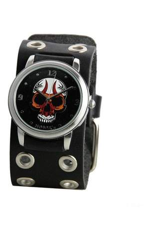 Black Eyelet Skull Watch