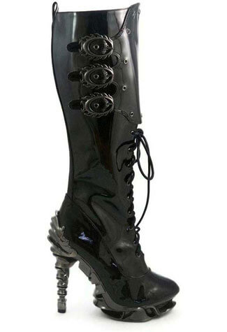 HYPERION Black Spinal Boots