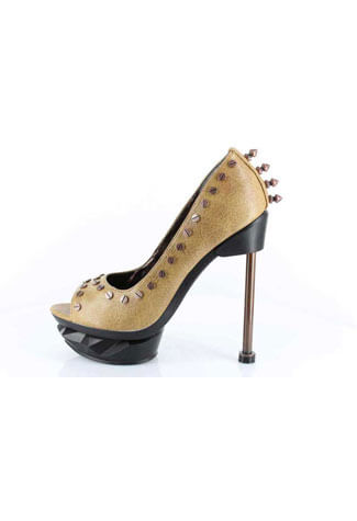 IRONPUNK Mustard Stiletto Heels