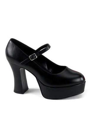 MARYJANE-50 Black Platform Heels