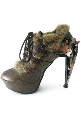 MORGANA Brown Steampunk Stilettos