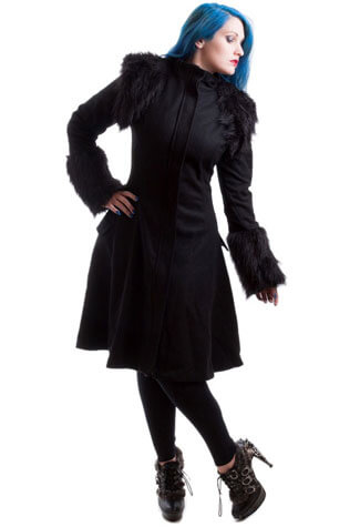 Morrigan Faux Fur Real Wool Coat